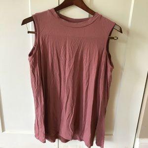 Topshop open shoulder shirt